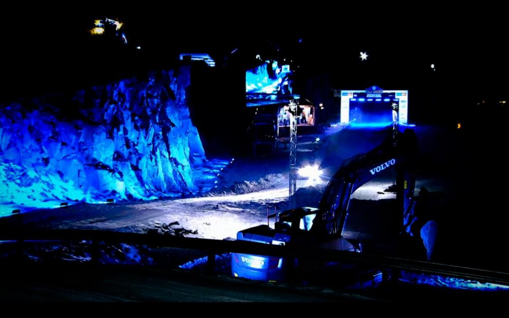Snowy Rally Sweden highlighted by SGM wash lights