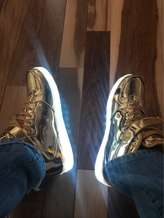 led shoes gold 01