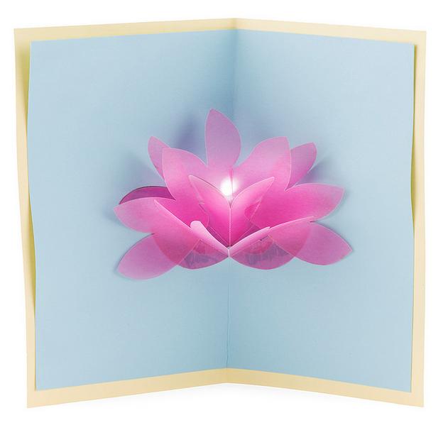 Открытки, открытка а внутри раскрывающийся цветок пошагово