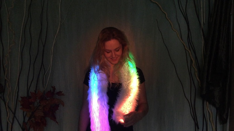 светящий меховой шарф. светодиодный шарф, одежда 06.jpg