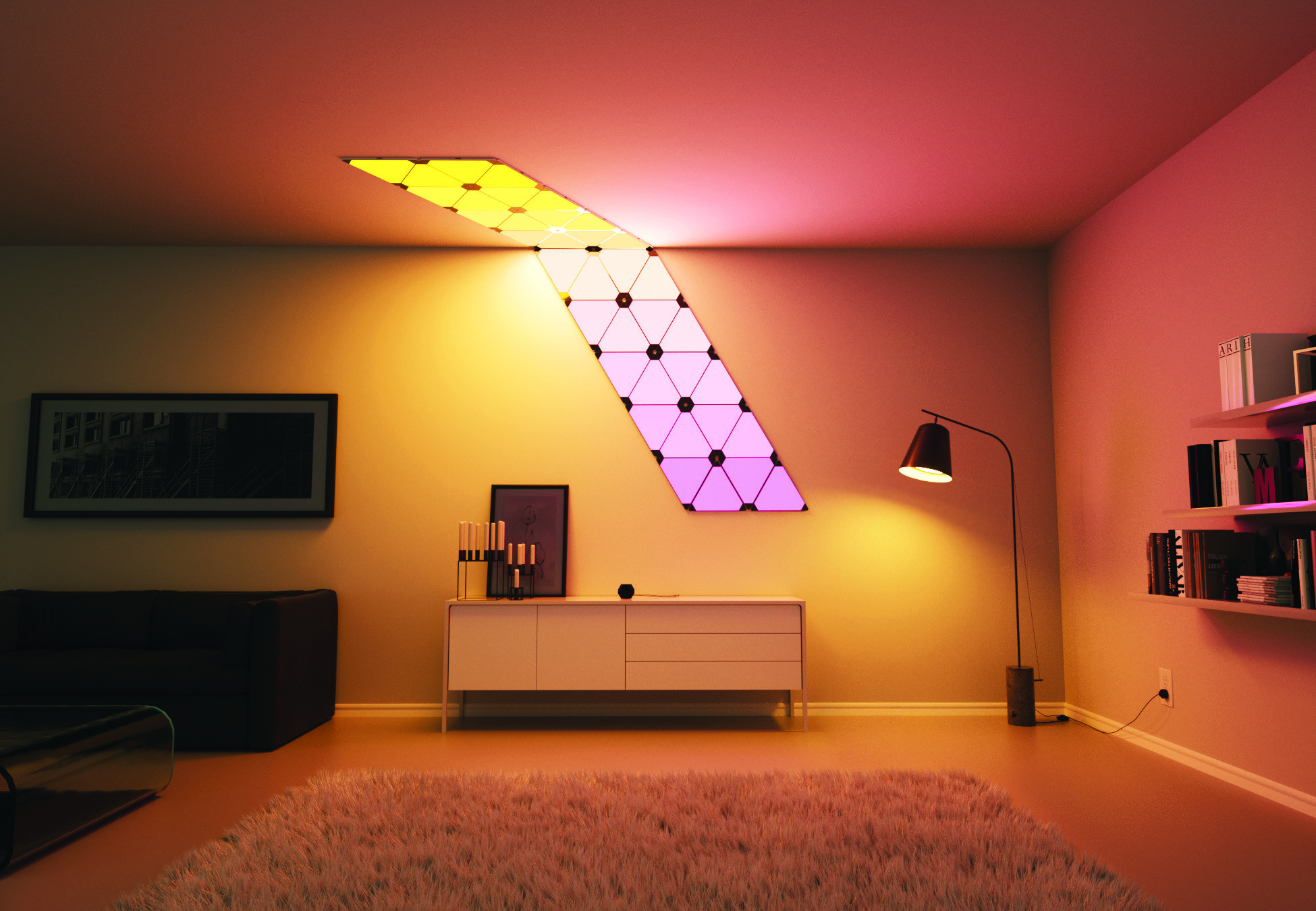 led panel light for ceiling or wall rgbw smart led. Black Bedroom Furniture Sets. Home Design Ideas