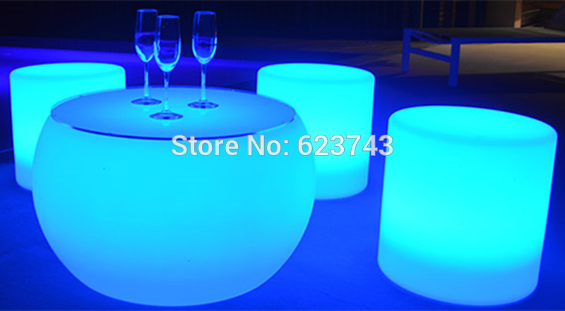 LED Stool Cylindre - LED Lighting Furniture 05 - Led Furniture Set » Ball,Cube,Chair,Table,Sofa • AliExpress