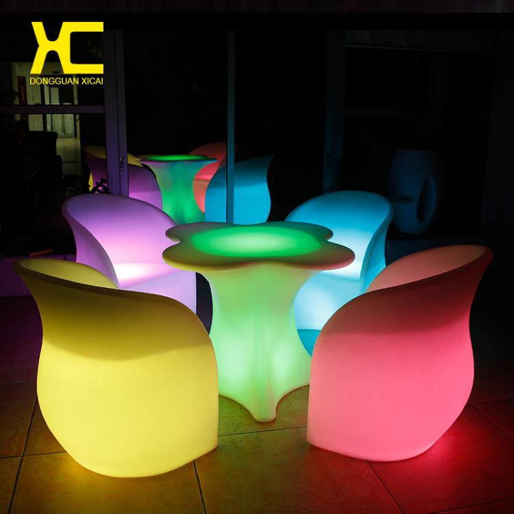 LED Furniture - LED Bar Table Chair Clover - led flower vase lights × led glass led cups ×  led table × led flower pots australia × led flower pot china ×  led luminous ball × led ice bucket ×  led table light