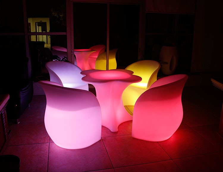 LED Furniture - LED Bar Table Chair Clover 03 - led flower pot ×  led furnitrue set × led flower pots canada ×  led flower vase × led cube furniture ×  led chair bar stools × led flower pots uk × flower vase with led lights