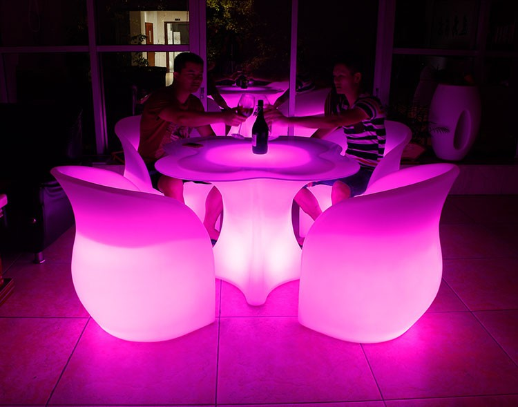 LED Furniture - LED Bar Table Chair Clover 05 - led furniture wholesale ×  led flower pots × led flower pot lighting × led furniture for sale in usa × led furniture china ×  led furniture lights × led furniture outdoor × led sofa furniture ×  led furniture for sale × led furniture bar ×  white led furniture