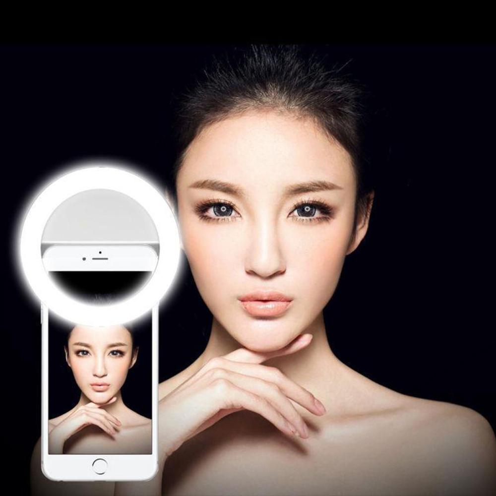 Ring Camera Light Youtube: LED Ring Light. Ringlys Til Mobil,kamera. Beauty Ring Lyse