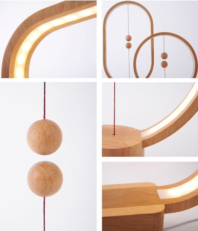 LED Wood Lamp • ideas, design. Lamp made of wood - Creative - LEDNEWS