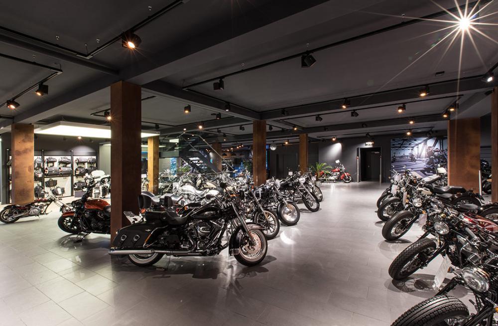 Harley Davidson Shop - beleuchtung für einzelhandel × led beleuchtung ×  shopbeleuchtung led × led beleuchtung für einzelhandel × led beleuchtung einzelhandel × led retail beleuchtung × led-beleuchtung im einzelhandel 5