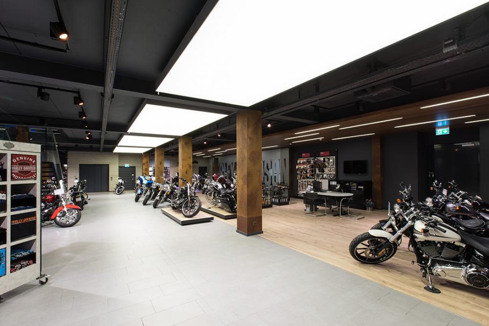 Harley Davidson Shop - beleuchtung für einzelhandel × led beleuchtung ×  shopbeleuchtung led × led beleuchtung für einzelhandel × led beleuchtung einzelhandel × led retail beleuchtung × led-beleuchtung im einzelhandel 6
