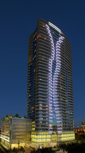 Led Lighting Skyscraper 2929 Weslayan Houston Landscape