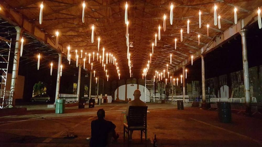 "Light installations ""INTERACTIVE PEOPLE"" - led art installations"