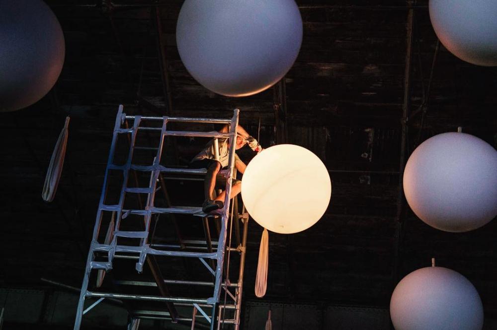 "Light installations ""INTERACTIVE PEOPLE"" - outdoor light installations"