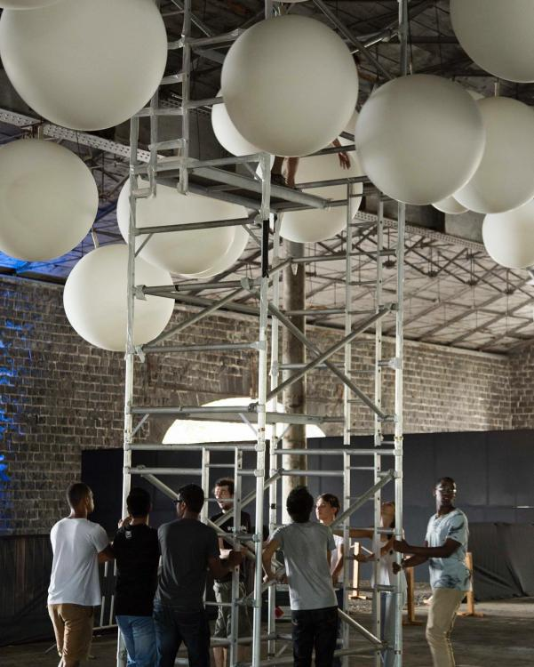 """Light installations """"INTERACTIVE PEOPLE"""" - led installations"""