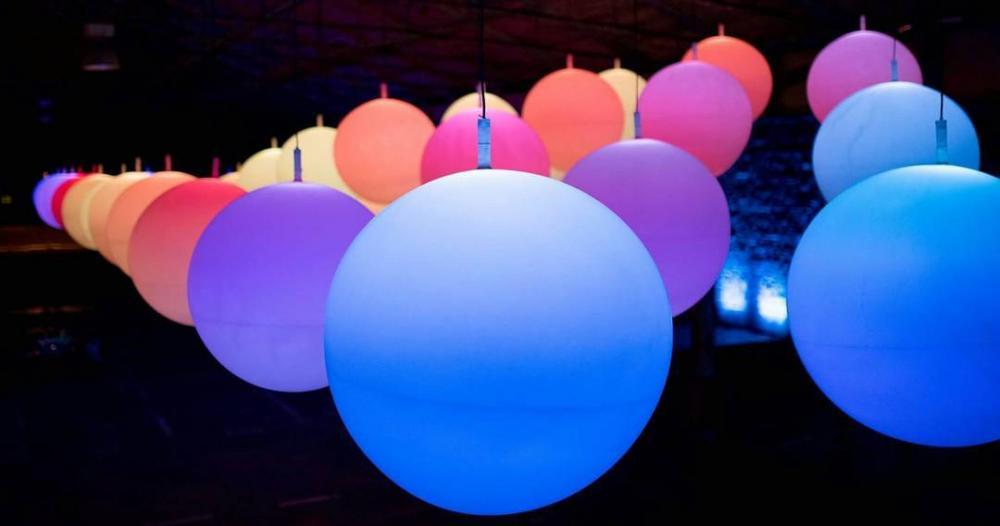 "Light installations ""INTERACTIVE PEOPLE"" - outdoor light installations × led lighting installations × installations of light"