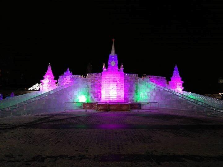 P-5 wash lights breathe life into Russian ice city