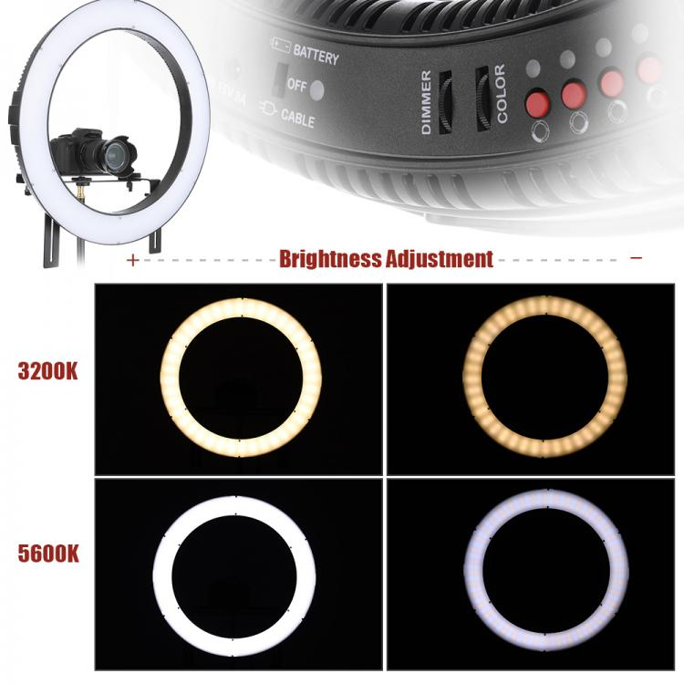 Professionales Ringlampe DVR-160TVC. LED Lamp Selfie - Ring Licht. Beauty Light Ring, Das Schminklicht - flash licht ×  ringlicht kaufen × foto licht ×  selfie ring licht × selfie ringlicht ×  ringlicht studiolicht