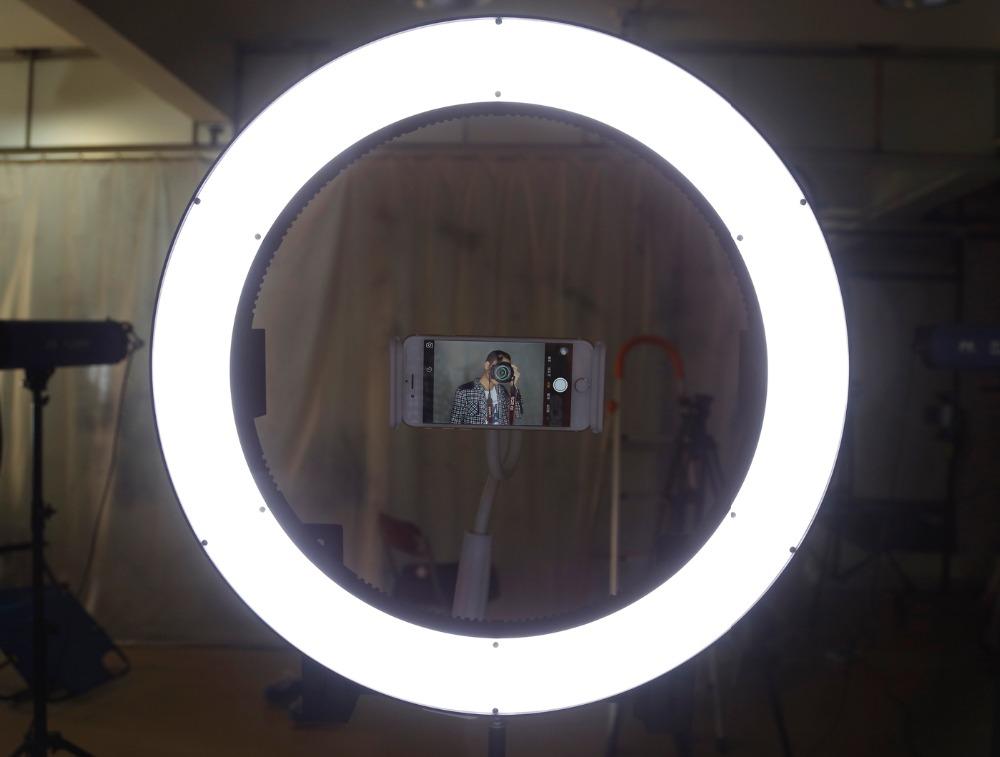 круг светящийся для фото урок