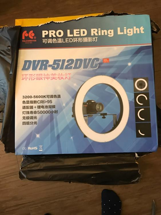 Professionales Ringlampe DVR-512DVC. LED Lamp Selfie - Ring Licht. Beauty Light Ring, Das Schminklicht - led ringlicht makrofotografie × ringlicht effekt ×  ringlicht test × fotografie ring licht ×  led selfie
