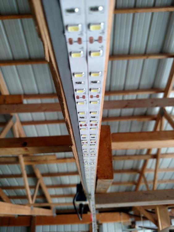 Освещение гаража светодиодной лентой - свет в гараже своими руками - лед освещение гаража × дешевое освещение гаража × освещение светодиодной лентой