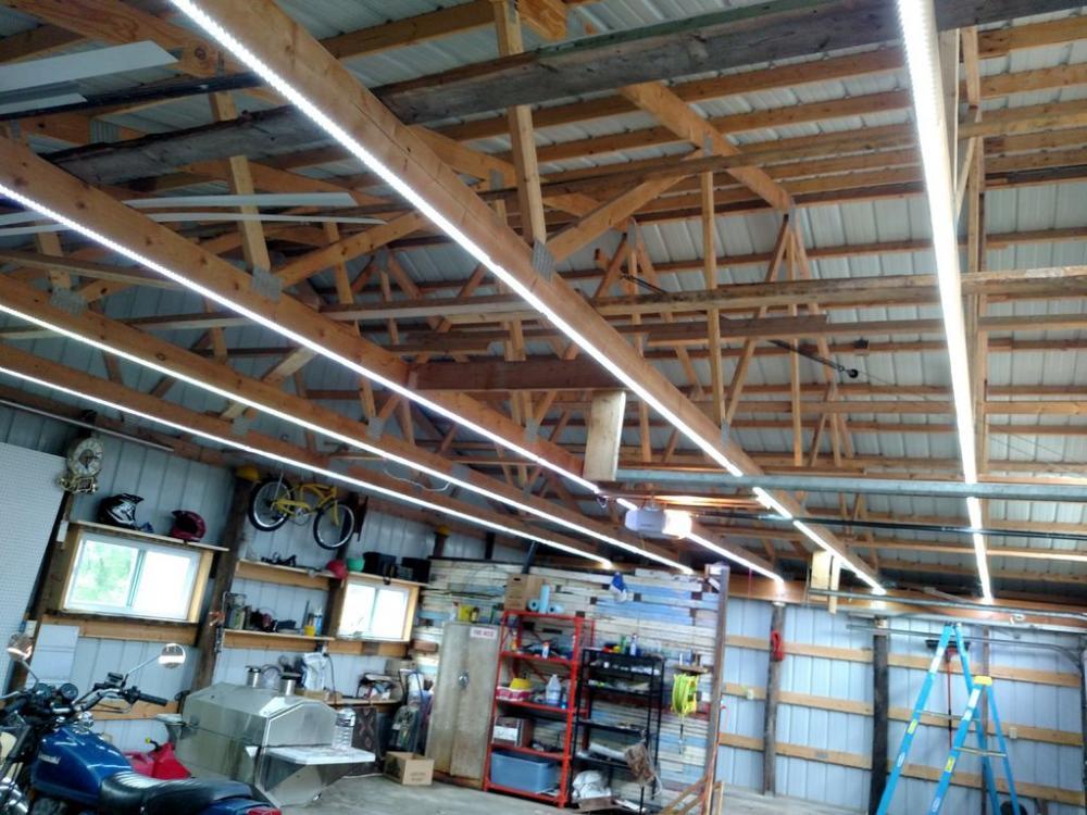 Освещение гаража светодиодной лентой - свет в гараже своими руками - светодиодное освещение в гараже × светильники для гаража × свет в гараже своими руками × освещение гаража светодиодной лентой