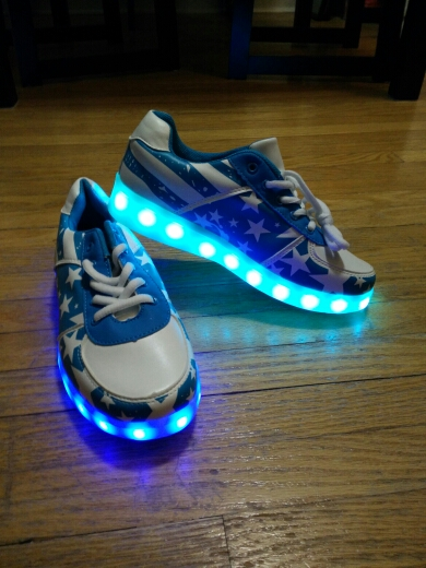 Light up Shoes - glowing sneakers design × led shoes for kids ×  led shoes gold
