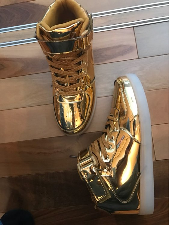 led shoes gold 02