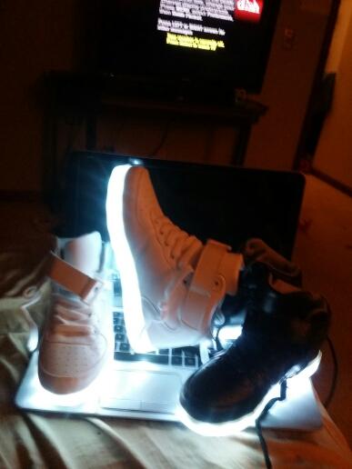 led shoes whitre, black  × led shoes china 01