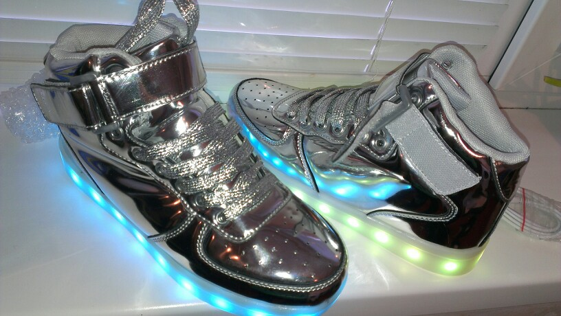 silver led shoes - silver led usb shoes 02