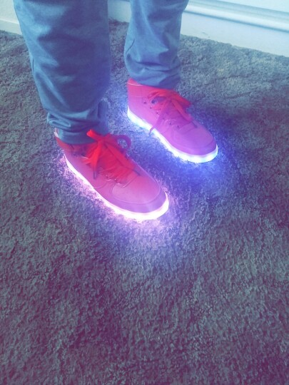 Red Led Shoes - LED Shoes Mens Red 01