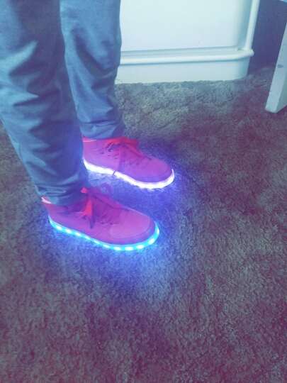 Red Led Shoes - LED Shoes Mens Red 02