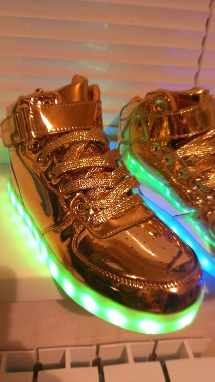 LED Shoes Women Gold