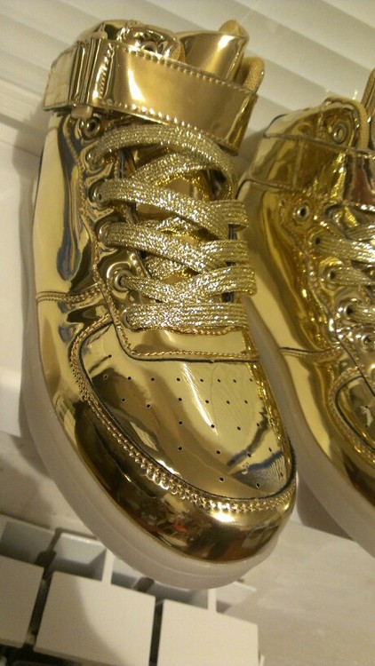 Light up Shoes Mentalic Gold