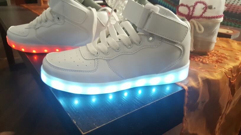 Classic LED Shoes - White. Led Sneakers Official Store