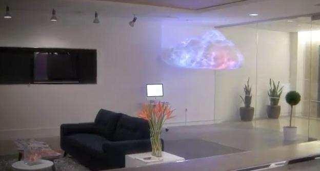 Светильник в виде облака для офиса