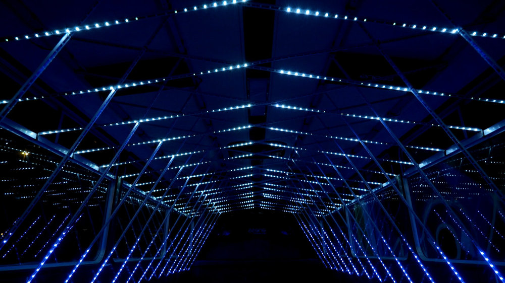LED installation Strawberry Fields Festival -