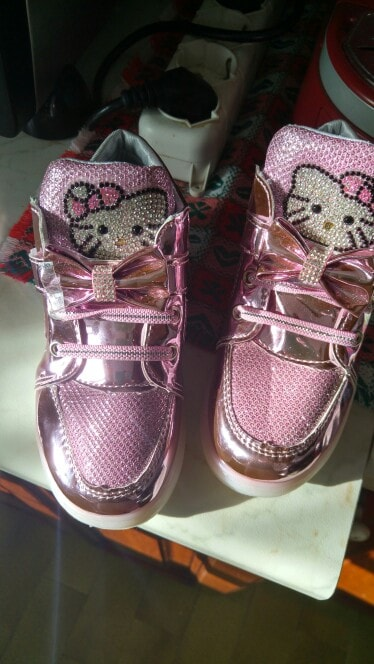 scarpe hello kitty con luci