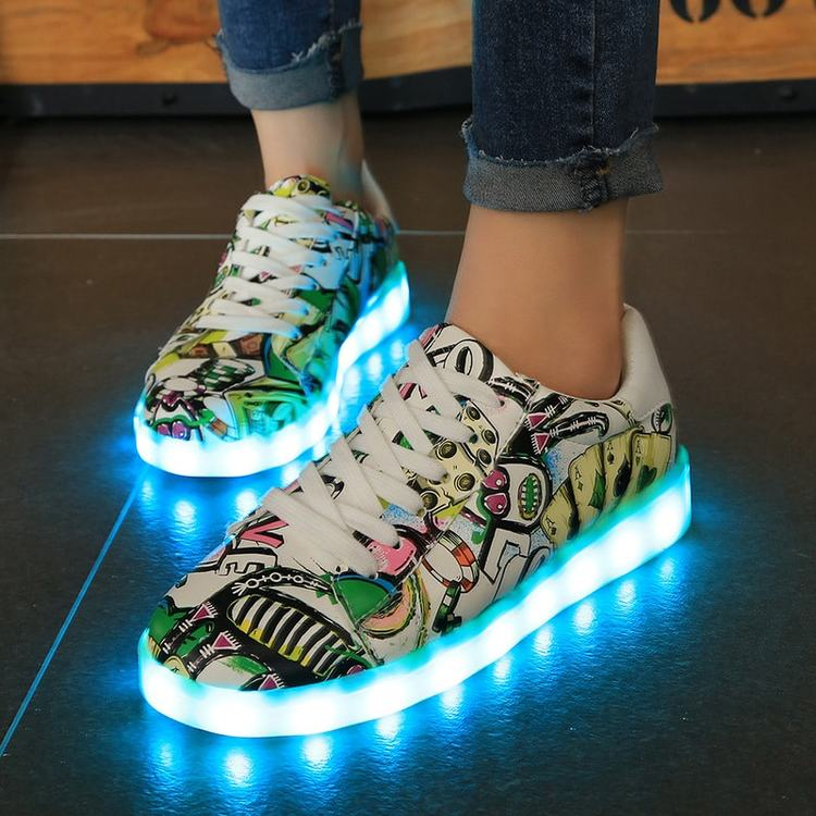 sko med lys str 23, sko med lys voksne, sko med lys str 29, sko med lys i sålen til børn,