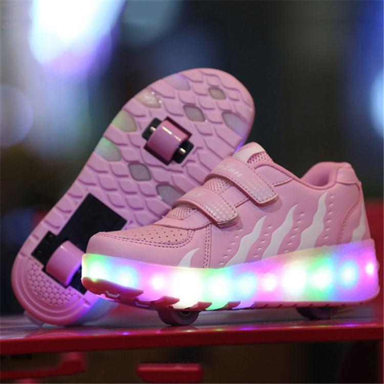 Svítící boty dětské - LED svítící kolečka na boty • Svítící tenisky 07.jpg