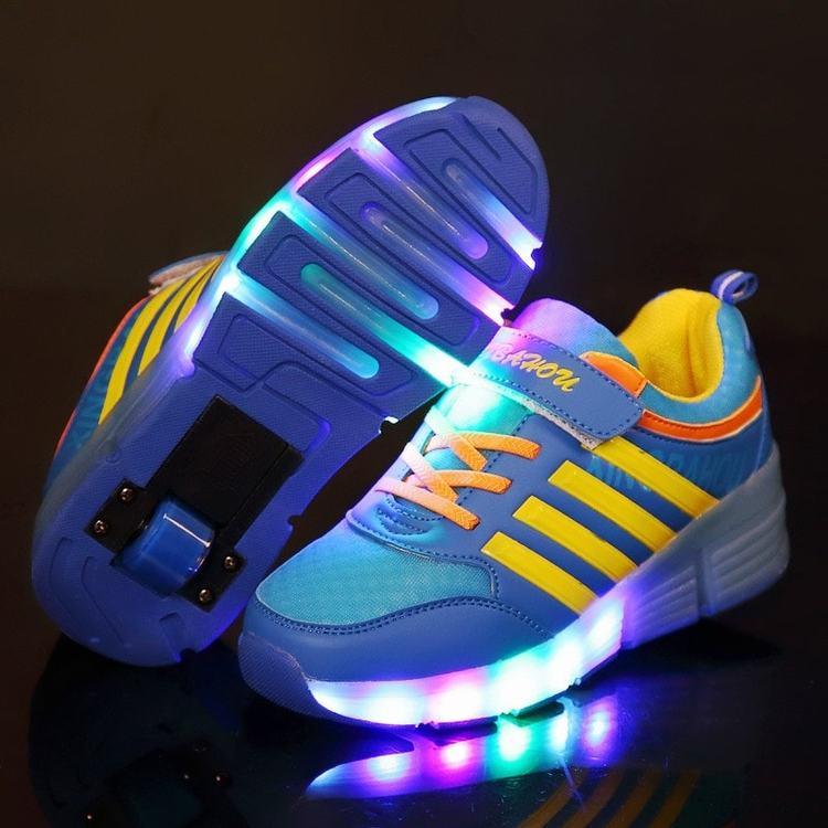 Svítící boty dětské - LED svítící kolečka na boty • Svítící tenisky 08.jpg