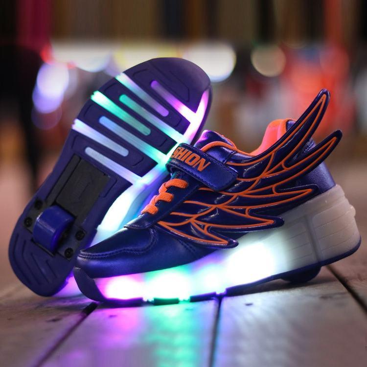 Svítící boty dětské - LED svítící kolečka na boty • Svítící tenisky 09.jpg