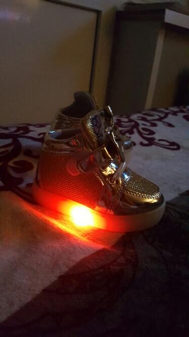 led lys sko, led sko for voksne, led-sko til både,