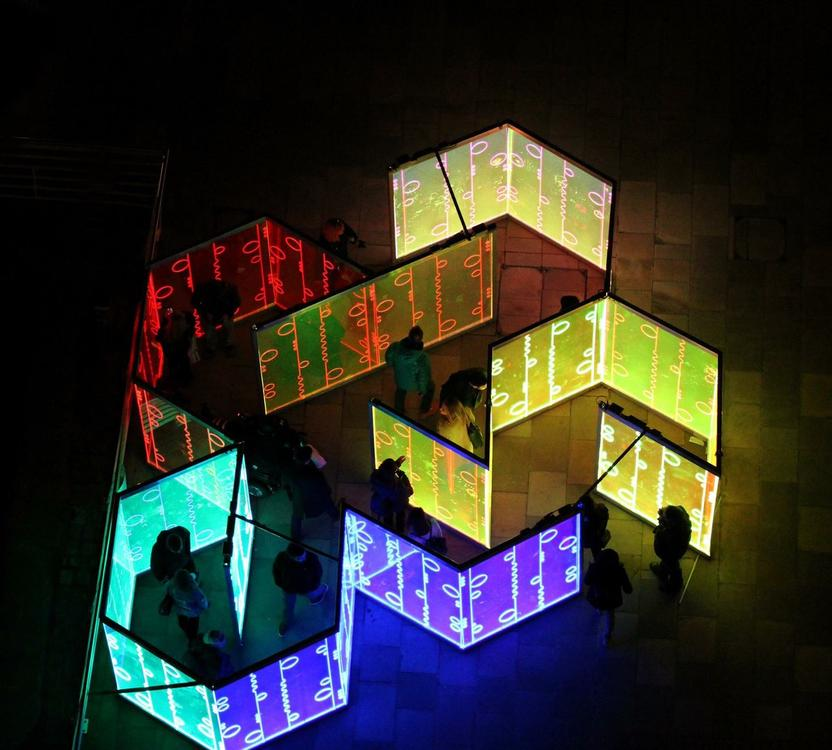 maze led lights ×  maze led × maze lights ×  led installation × light show ×  light installation