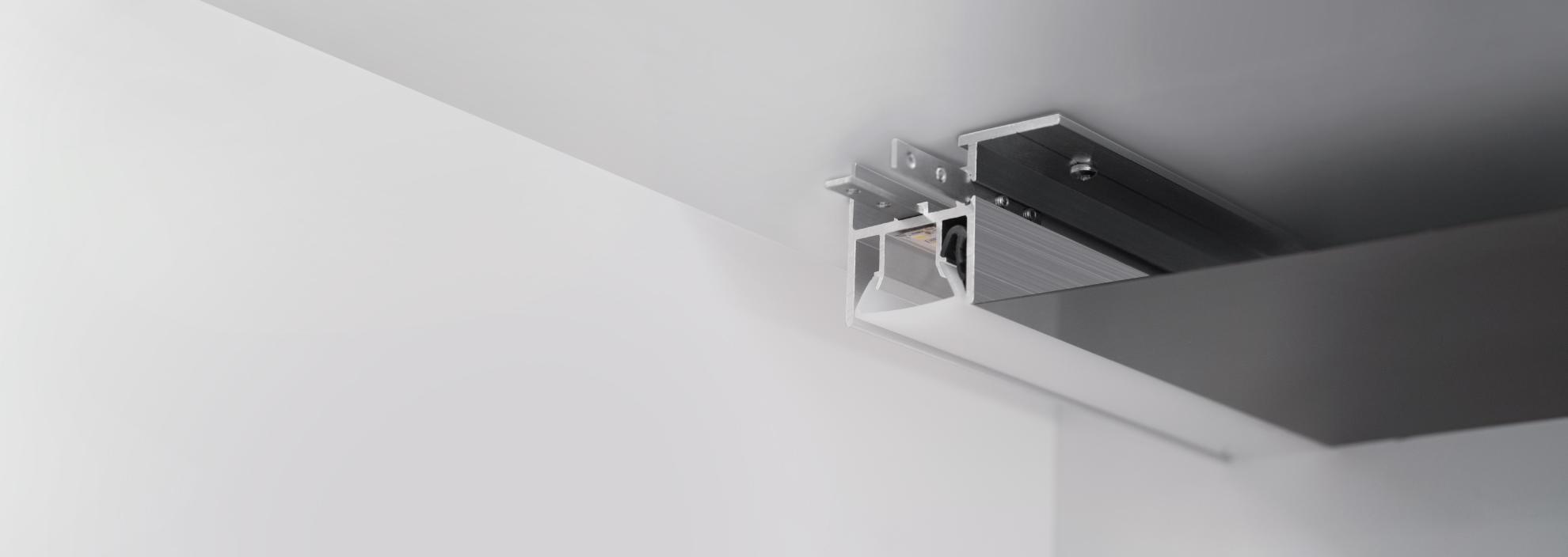 Новый профиль для создания линий света в натяжных потолках