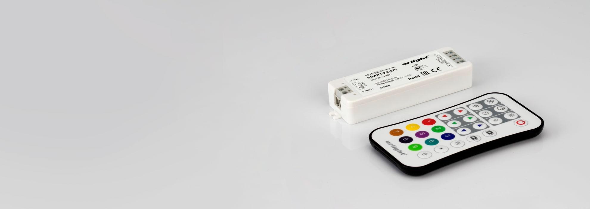 Контроллер для SPI ленты (бегущий огонь) и пикселей