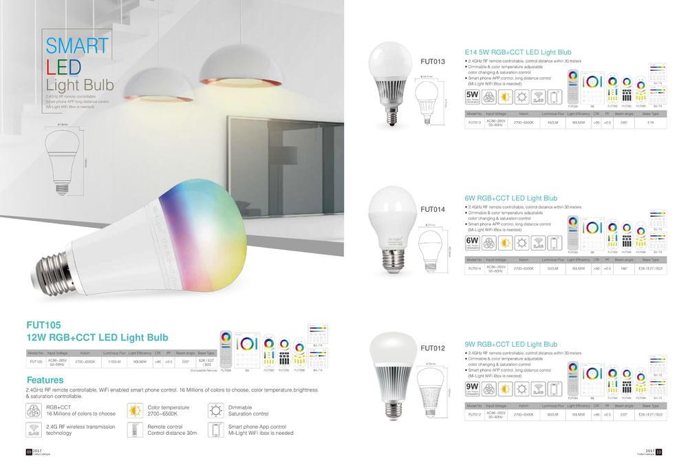 Умные светодиодные лампы E27/E14RGB CCT - Умное светодиодное освещение Mi-Light: Светильники, Смарт прожекторы, Лампы, Контроллеры и пульты - лампы mi light ×  milight лампочки × wifi контроллер milight × milight контроллер ×  mi-light пульт × mi light rgb контроллер × mi-light wifi контроллер × светодиодная лента × лампочки mi light × трековые светильники × светодиодные лампы × управление светом × светодиодное освещение × умное освещение ×  rgb прожекторы