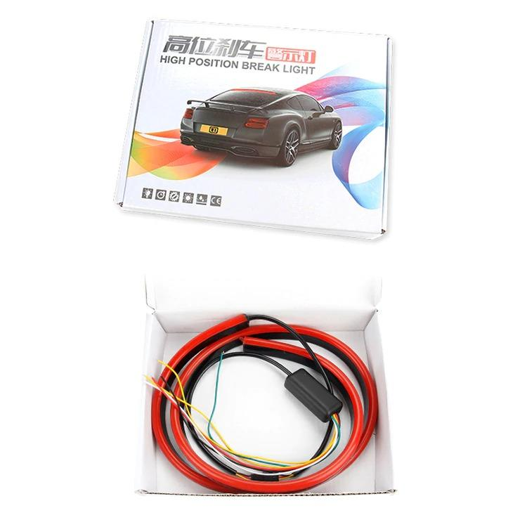 I-BAEUTY CAR Store - LED Third Brake Light lamp Strip 100cm Rear Tail Stop Signal Safety led Warning