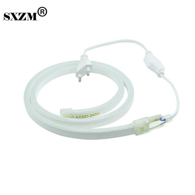 sxzm Official Store - 120led/M 220V 2835 Neon led strip light IP68 Waterproof Flexible Fairy light