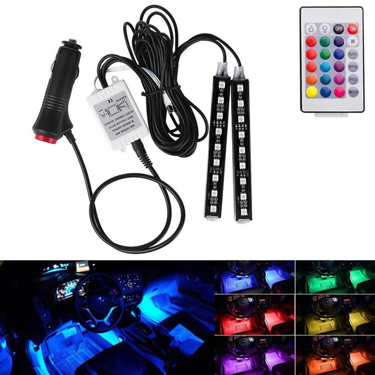 Toptech Alone - 12V Car Atmosphere Lights Waterproof 2 Pieces Light Strips Flexible LED Auto