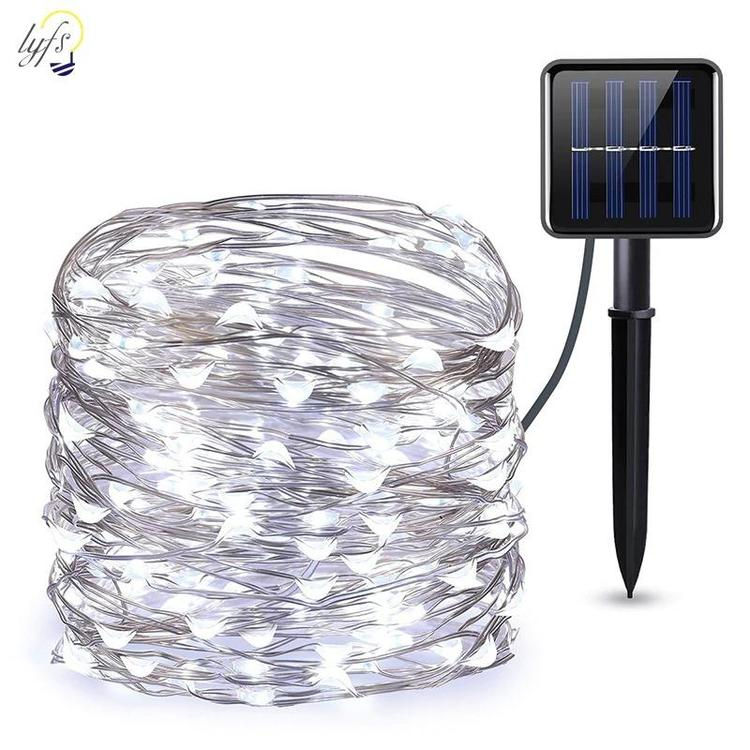 lyfs ligting Store - 50/100/200 led solar LED Light Waterproof LED Copper Wire String Holiday