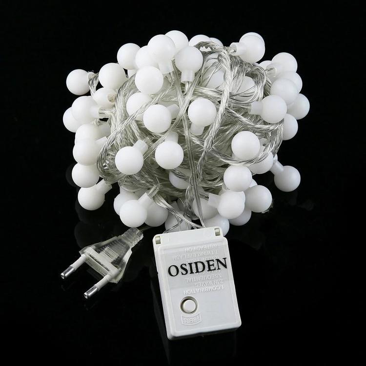 OSIDEN Factory Lights Store - Globe String Light 33Ft with 80led white Bulbs listed
